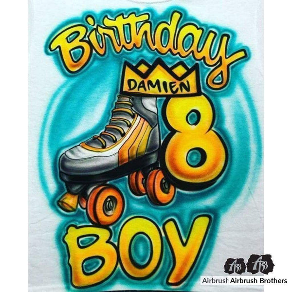airbrush custom spray paint  Airbrush Birthday Boy Skate Shirt Design shirts hats shoes outfit  graffiti 90s 80s design t-shirts  Airbrush Brothers Shirt