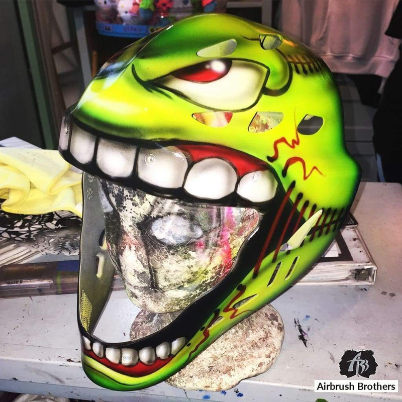 airbrush custom spray paint  Airbrush Catchers Softball Design shirts hats shoes outfit  graffiti 90s 80s design t-shirts  AirbrushBrothers helmet