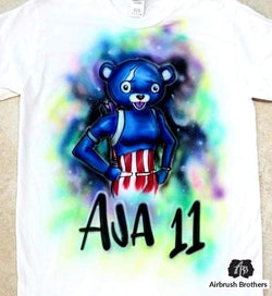 airbrush custom spray paint  Airbrush Fireworks Team Leader Cartoon Design shirts hats shoes outfit  graffiti 90s 80s design t-shirts  Airbrush Brothers Shirt
