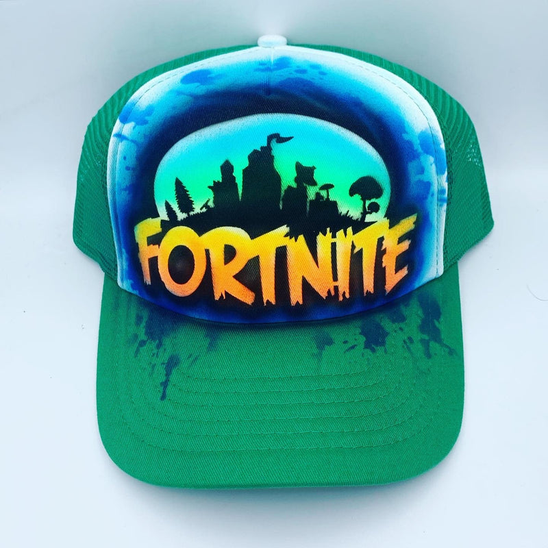 airbrush custom spray paint  Airbrush Fortnite Hat Design shirts hats shoes outfit  graffiti 90s 80s design t-shirts  Airbrush Brothers Hats