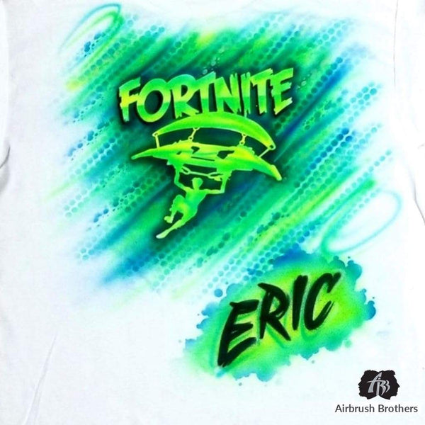 airbrush custom spray paint  Airbrush Fortnite Shirt Design shirts hats shoes outfit  graffiti 90s 80s design t-shirts  Airbrush Brothers Shirt