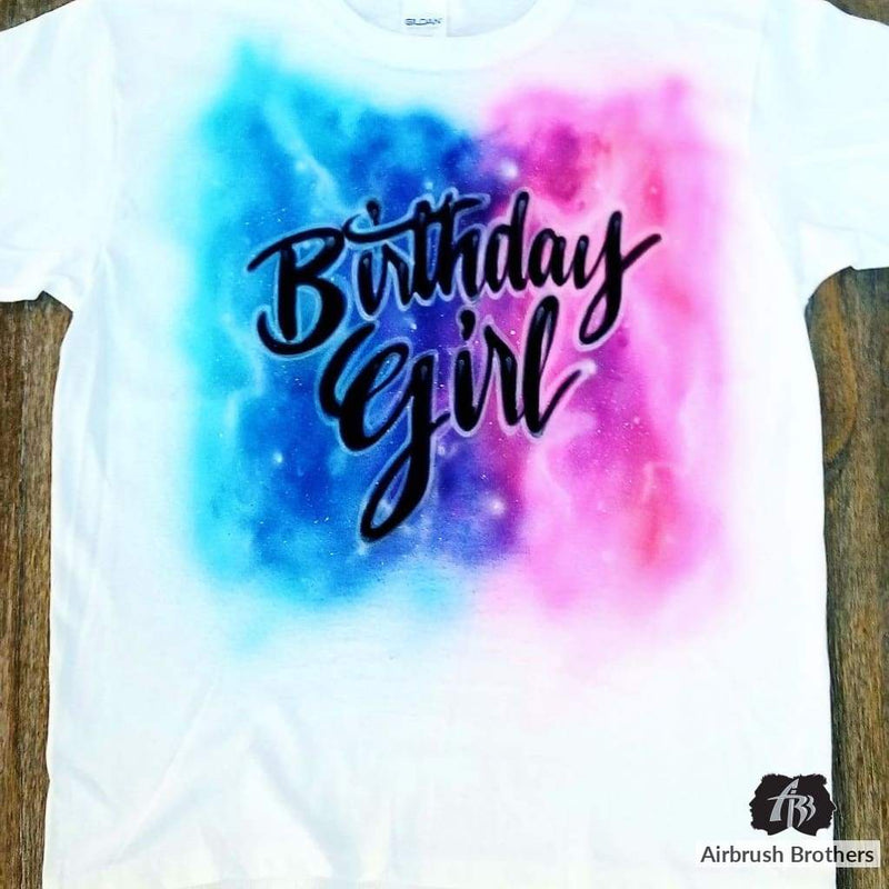 airbrush custom spray paint  Airbrush Galaxy Birthday Design shirts hats shoes outfit  graffiti 90s 80s design t-shirts  Airbrush Brothers Shirt