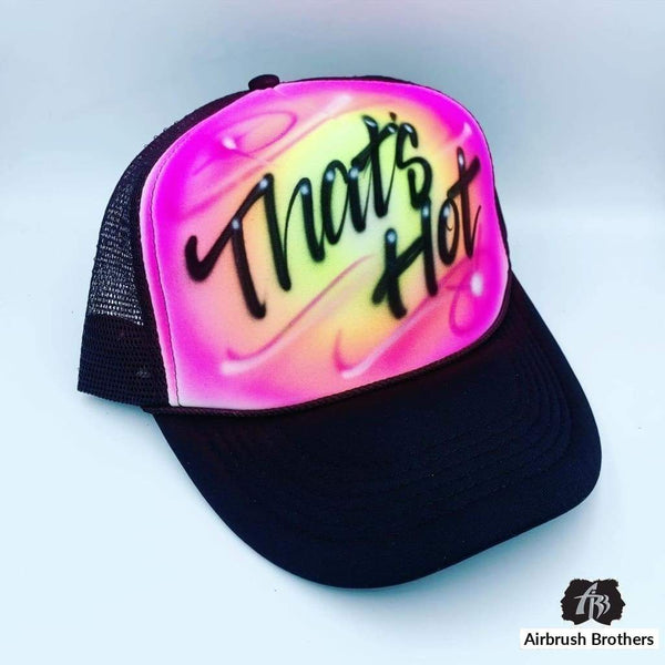 airbrush custom spray paint  Airbrush Hat Swirl Design shirts hats shoes outfit  graffiti 90s 80s design t-shirts  AirbrushBrothers Hats