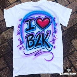 airbrush custom spray paint  Airbrush I Love Shirt Design shirts hats shoes outfit  graffiti 90s 80s design t-shirts  Airbrush Brothers Shirt