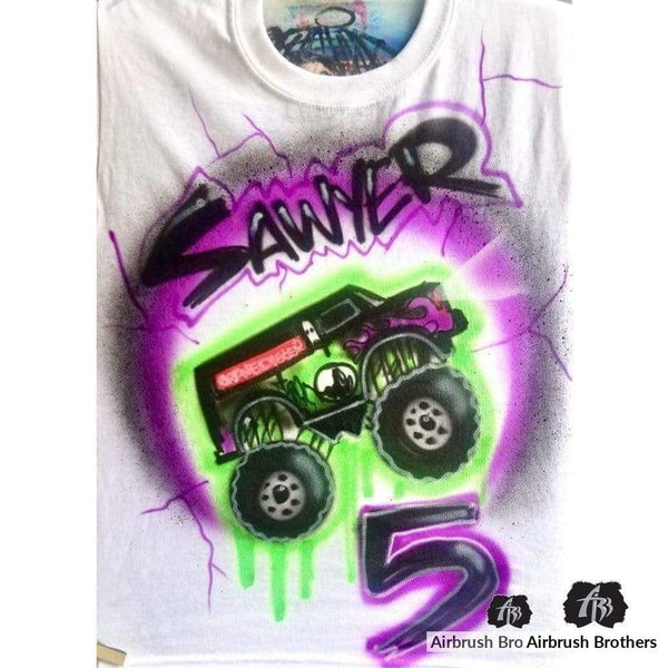 airbrush custom spray paint  Airbrush Monster Truck Splatter Shirt Design shirts hats shoes outfit  graffiti 90s 80s design t-shirts  Airbrush Brothers Shirt