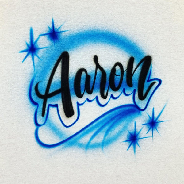 airbrush custom spray paint  Airbrush Name Script Shirt Design shirts hats shoes outfit  graffiti 90s 80s design t-shirts  Airbrush Brothers Shirt