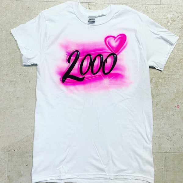 airbrush custom spray paint  Airbrush Old School 2000's Shirt Design shirts hats shoes outfit  graffiti 90s 80s design t-shirts  Airbrush Brothers Shirt