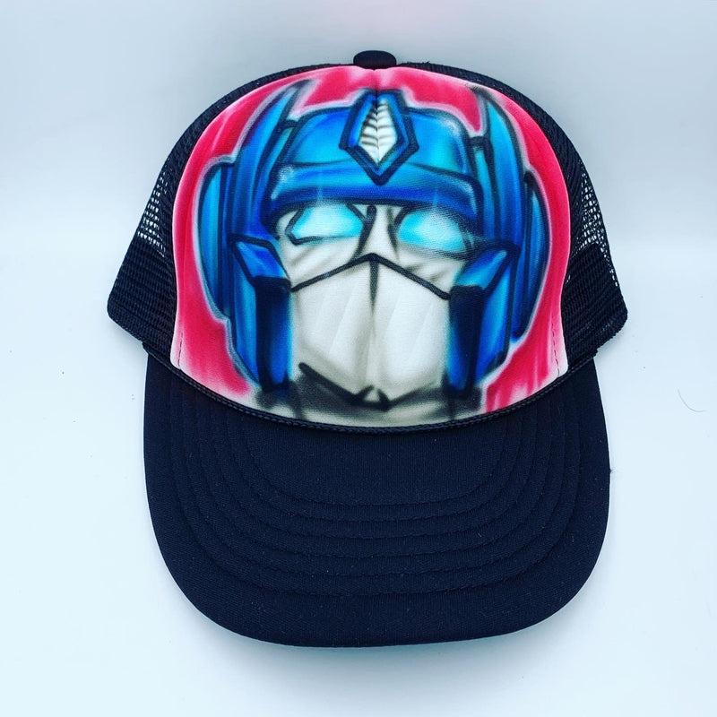 airbrush custom spray paint  Airbrush Optimus Prime Hat Design shirts hats shoes outfit  graffiti 90s 80s design t-shirts  Airbrush Brothers Hats