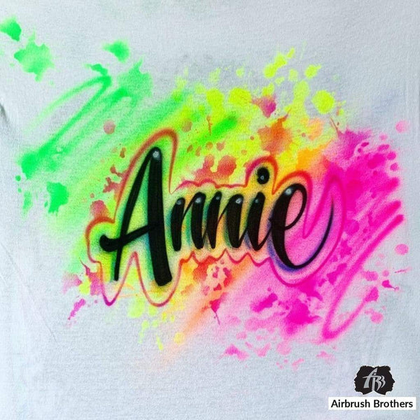 airbrush custom spray paint  Airbrush Rainbow Splatter Shirt Design shirts hats shoes outfit  graffiti 90s 80s design t-shirts  Airbrush Brothers Shirt
