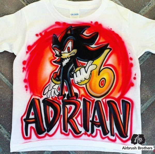Airbrush Shadow The Hedgehog Shirt Design Airbrush Brothers