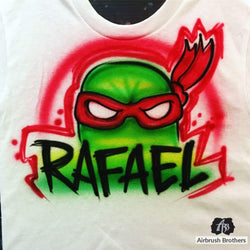 airbrush custom spray paint  AIrbrush TMNT Character Design shirts hats shoes outfit  graffiti 90s 80s design t-shirts  AirbrushBrothers Shirt
