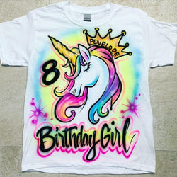 airbrush custom spray paint  Airbrush Unicorn Birthday Design shirts hats shoes outfit  graffiti 90s 80s design t-shirts  Airbrush Brothers Shirt