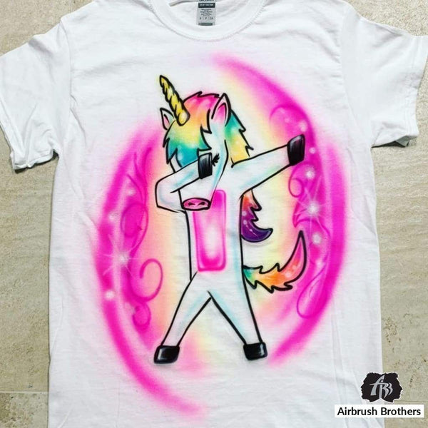 airbrush custom spray paint  Airbrush Unicorn Cartoon Design shirts hats shoes outfit  graffiti 90s 80s design t-shirts  Airbrush Brothers Shirt