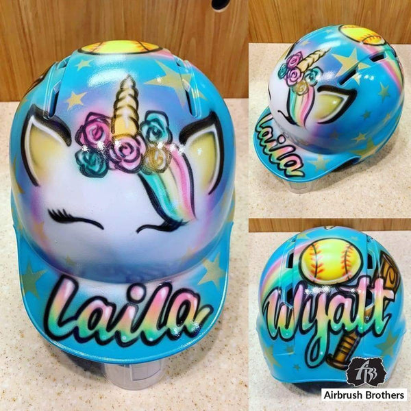 airbrush custom spray paint  Airbrush Unicorn Helmet Design shirts hats shoes outfit  graffiti 90s 80s design t-shirts  Airbrush Brothers helmet