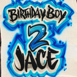 airbrush custom spray paint  Copy of Airbrush Happy 16th Birthday Design shirts hats shoes outfit  graffiti 90s 80s design t-shirts  Airbrush Brothers Shirt