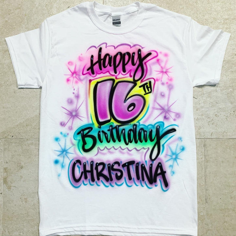 airbrush custom spray paint  Copy of Airbrush Paint Brush Birthday Design shirts hats shoes outfit  graffiti 90s 80s design t-shirts  Airbrush Brothers Shirt
