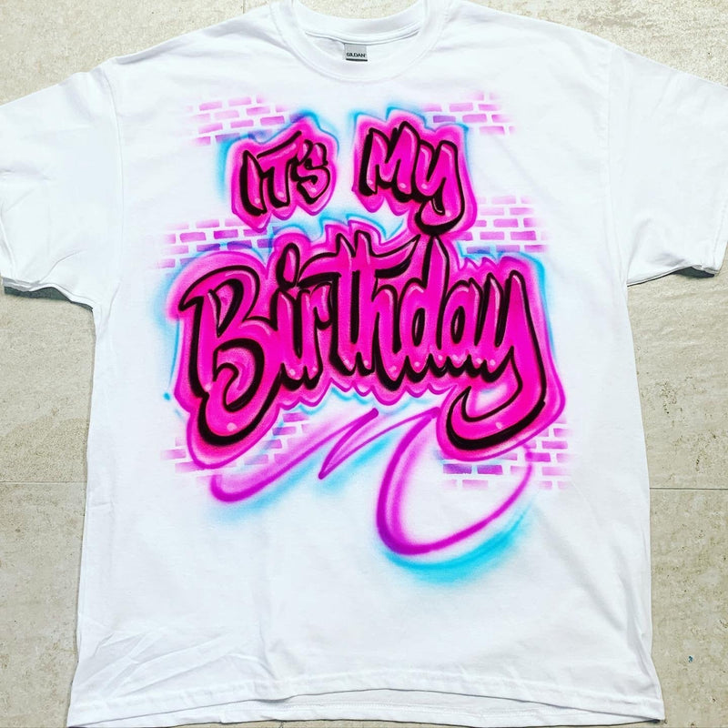 airbrush custom spray paint  Copy of Airbrush Zelda Birthday Design shirts hats shoes outfit  graffiti 90s 80s design t-shirts  Airbrush Brothers Shirt