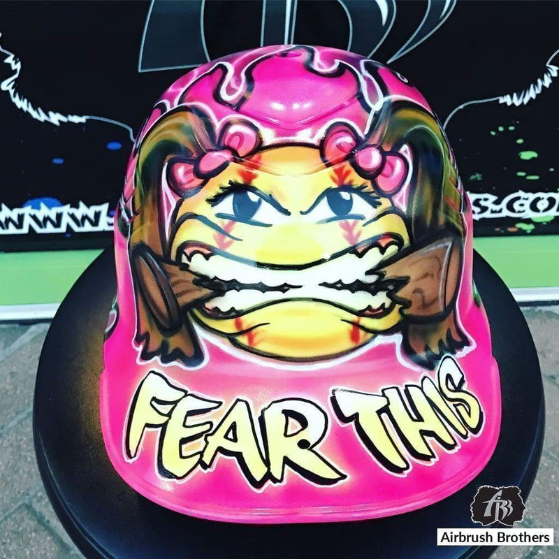 airbrush custom spray paint  Fear This Design shirts hats shoes outfit  graffiti 90s 80s design t-shirts  AirbrushBrothers helmet