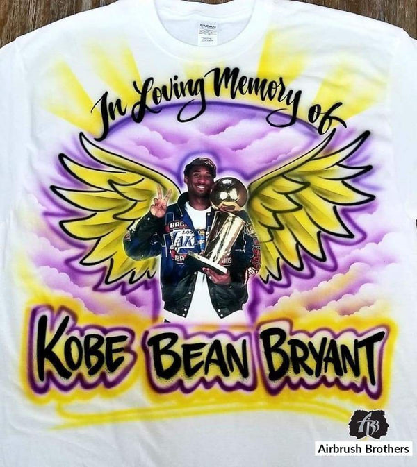 airbrush custom spray paint  In Loving Memory Of Portrait Design shirts hats shoes outfit  graffiti 90s 80s design t-shirts  Airbrush Brothers Shirt