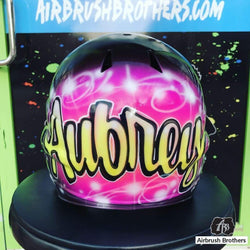 airbrush custom spray paint  Pink Ambiance Design shirts hats shoes outfit  graffiti 90s 80s design t-shirts  AirbrushBrothers helmet
