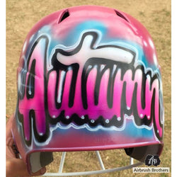 airbrush custom spray paint  Radiant Name Design shirts hats shoes outfit  graffiti 90s 80s design t-shirts  AirbrushBrothers helmet
