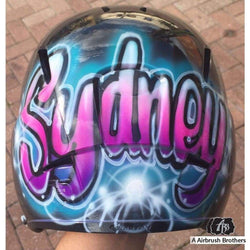 airbrush custom spray paint  Starburst Design shirts hats shoes outfit  graffiti 90s 80s design t-shirts  AirbrushBrothers helmet