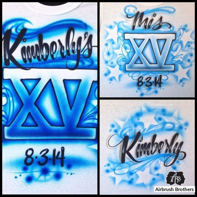 airbrush custom spray paint  Stars Quince Design shirts hats shoes outfit  graffiti 90s 80s design t-shirts  AirbrushBrothers Shirt