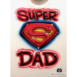 airbrush custom spray paint  Super Dad Design shirts hats shoes outfit  graffiti 90s 80s design t-shirts  AirbrushBrothers Shirt