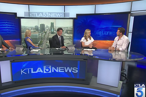 Chase McNary on KTLA speaking about Leisureletics and Bachelor ABC