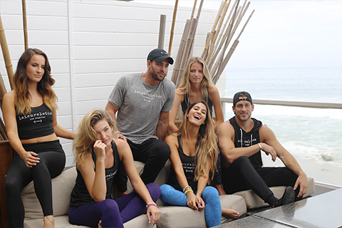 Robby Hayes Bachelor In Paradise with cast of models