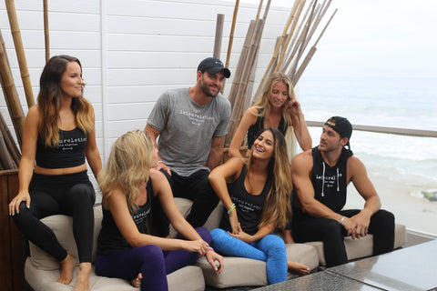 Robby Hayes Bachelor In Paradise with Chase McNary and models