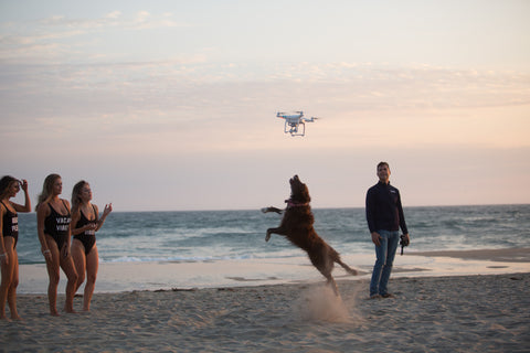 Dog chasing drone during photoshoot with Chase Mcnary