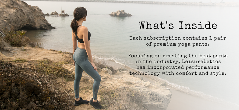 what is inside yoga pant subscription service