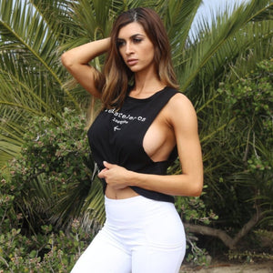 LeisureLetics Muscle Crop Top Tank