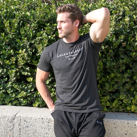 Chase Mcnary in black leisureletics crew neck shirt