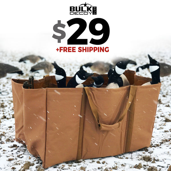 6 Slot Full Body Goose Decoy Bag