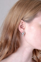 CONCHA EARRINGS IN SILVER