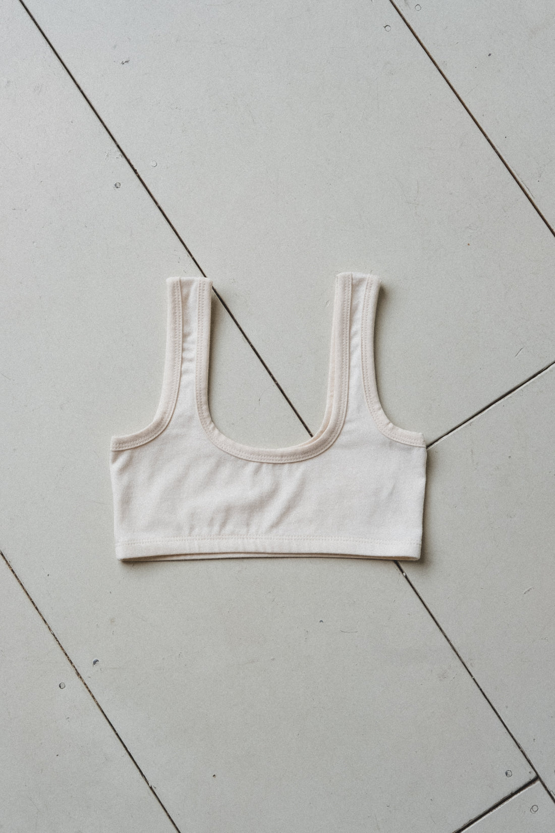 WIDE-STRAP BRA IN COTTON