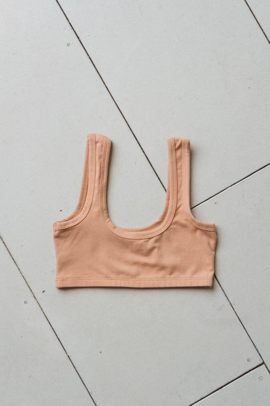WIDE-STRAP BRA IN PECAN