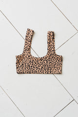 WIDE-STRAP BRA IN LEOPARD