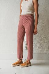 MARU PANTS IN CINNAMON MERINO WOOL RIB