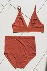 HIGH WAIST BELL UNDERWEAR IN RUST