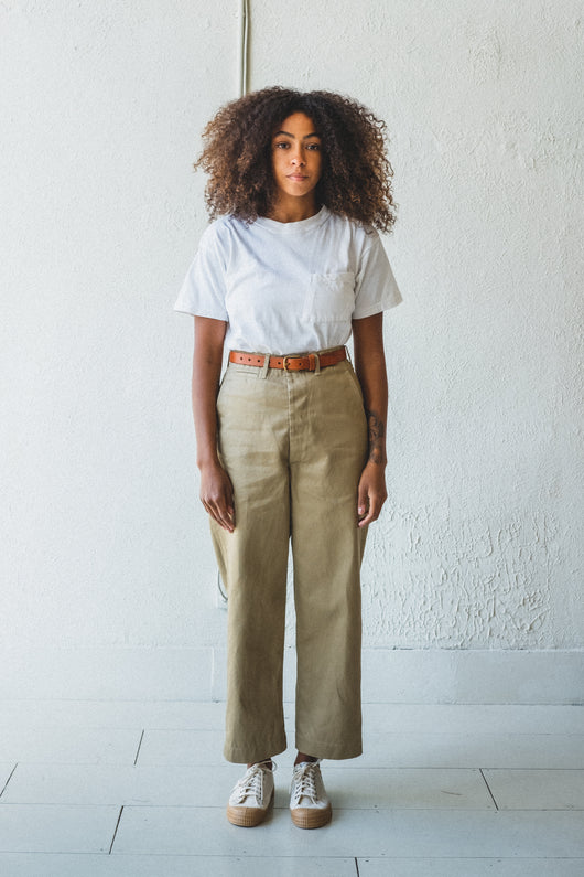 ARMY FIT TROUSER IN KHAKI