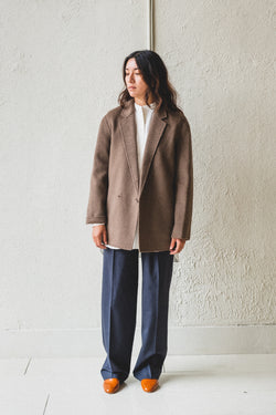 JACKET IN UNDYED YAK WOOL