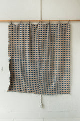 ANTIQUE LIGHT BLUE HANDWOVEN AMERICAN COVERLET