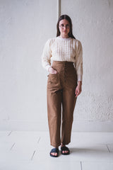 EMILY PANT IN TAN CANVAS