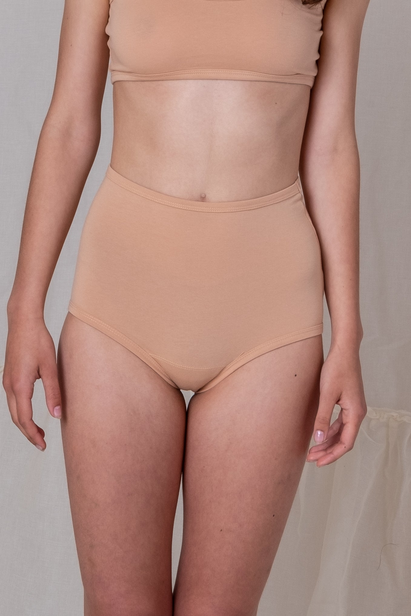 HIGH RISE UNDIES IN PECAN