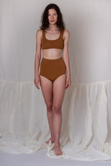 WIDE-STRAP BRA IN TOFFEE