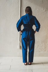 FARRAH JUMPSUIT IN INDIGO