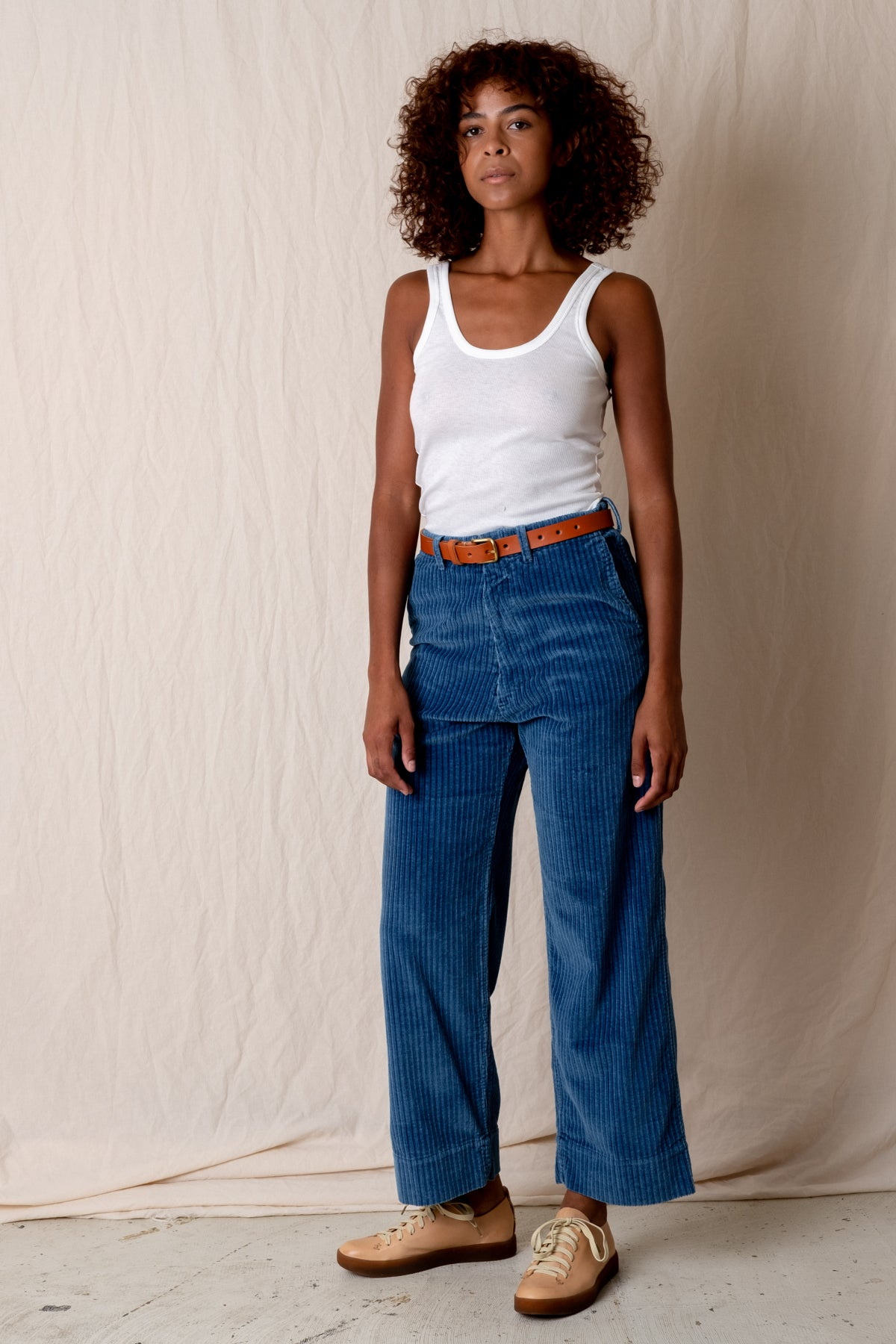 GREENE PANTS IN INDIGO CORDUROY